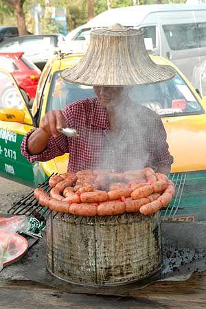 Sour Sausage Vendor - Thailand