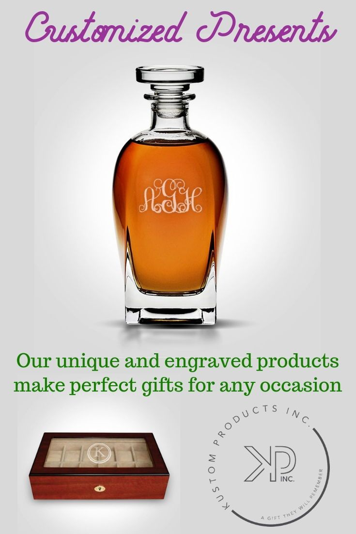 Engraved decanters. Whiskey and Scotch lovers. Watch boxes. Engraved gifts. Custom gifts business, personalized gifts for men, custom gifts for her, ...