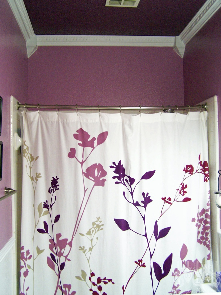 Our purple guest bathroom-ceiling