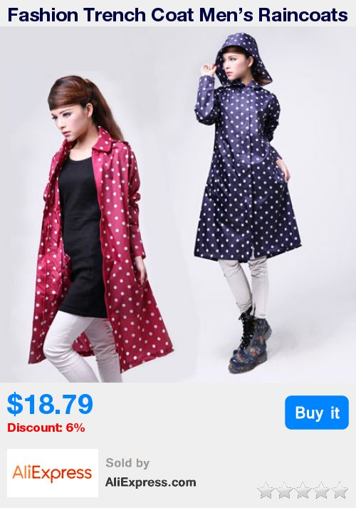 Fashion Trench Coat Men's Raincoats And Women's Poncho Long Outdoor Windbreaker With Hat Waterproof Breathable * Pub Date: 03:32 Apr 26 2017
