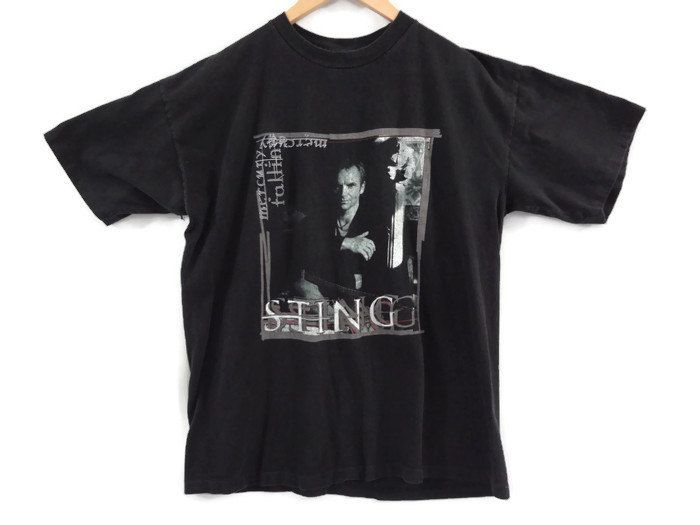 Vintage Sting Tour Shirt - 1996 - XL - Faded Black - The Police Band - UK Pop - Rock Shirts - Band Tees - Vintage Tees - Sting  90s Clothing by BLACKMAGIKA on Etsy