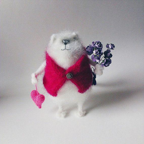 Cutie Pinkie Cat от WhatMyToy на Etsy