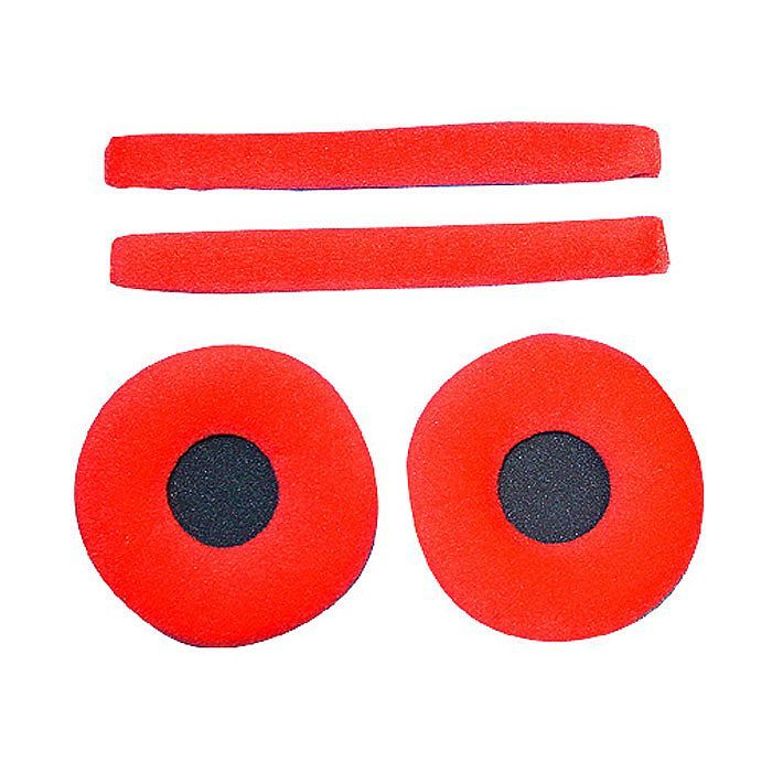 Zomo Replacement Earpads & Headband Pad Set For Sennheiser HD25 Headphones (velour red) at Juno Records $30
