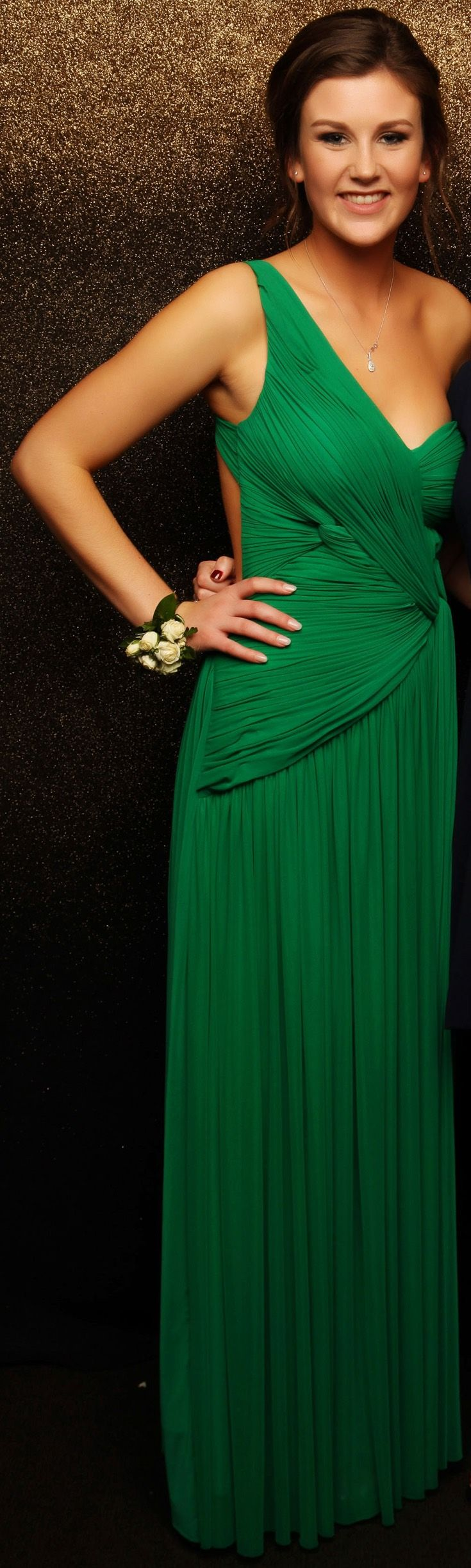 Alberto McCauley Green Evening Gown
