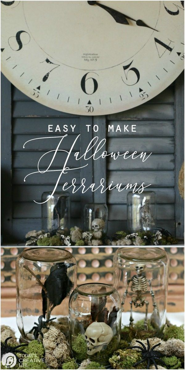 Halloween Spirit {Halloween Terrarium HOME Let\u0027s Decorate - how to decorate home for halloween