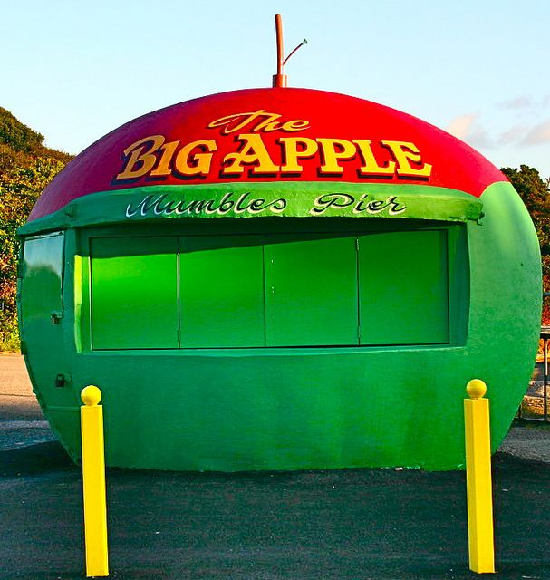 The Big Apple....in Mumbles Swansea (Abertawe) I love the walks and beaches near here!