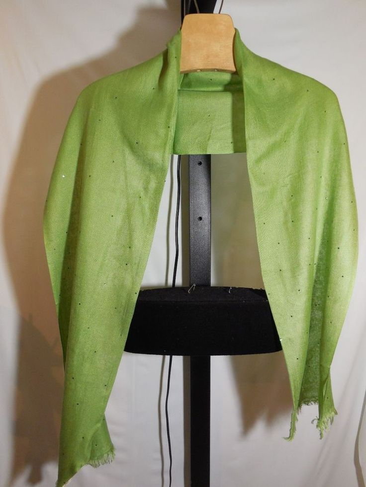 LADIES SPRING GREEN  SWAROVSKI ELEMENTS STUDDED SCARF EMBELLISHED TALBOTS $79 #Talbots #Scarf
