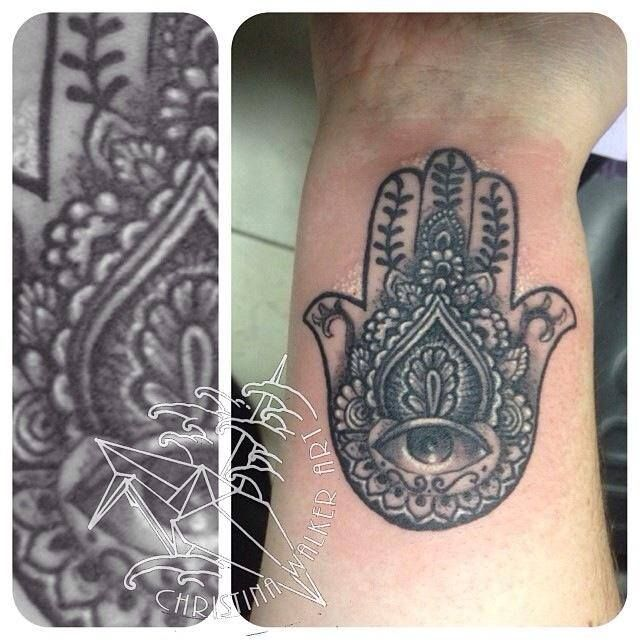 Hamsa Hand Tattoo Tattoos By Christina Walker