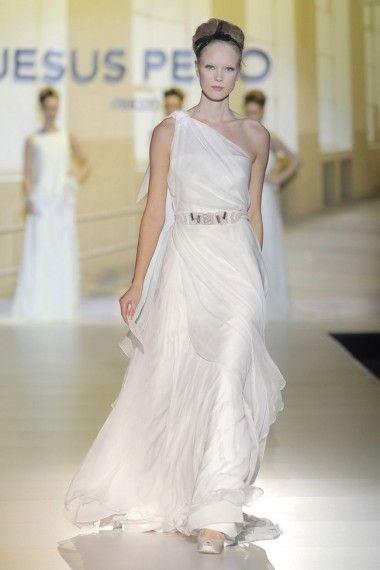 Jesus Peiro 2014   Wedding Dress Trend 2014 - One Shoulder Gowns - Wedding Blog   Ireland's top wedding blog with real weddings, wedding dresses, advice, weddi...