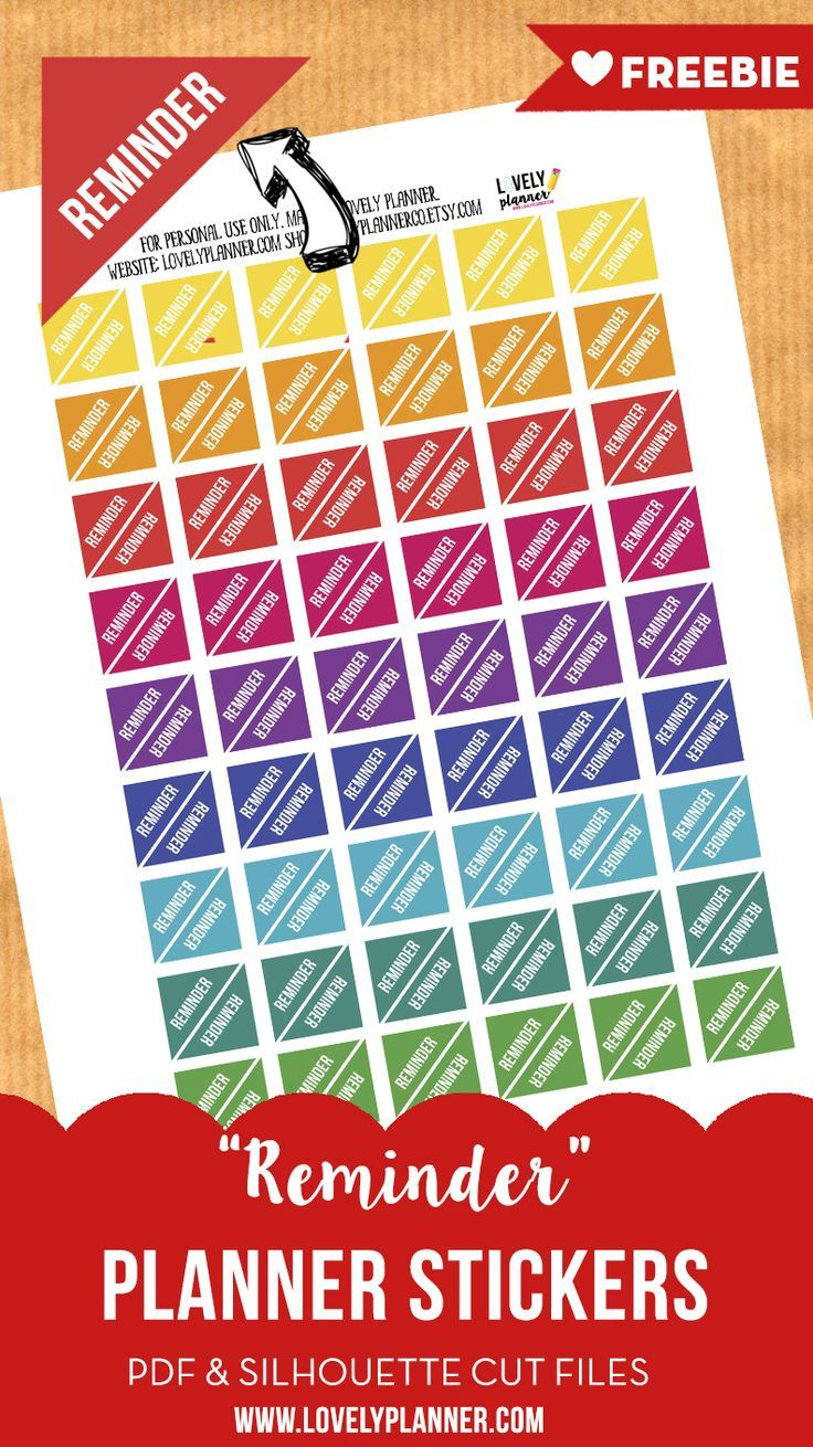 photograph relating to Free Printable Teacher Planner Pdf named No cost Useful Planner Stickers : REMINDER stickers Excellent