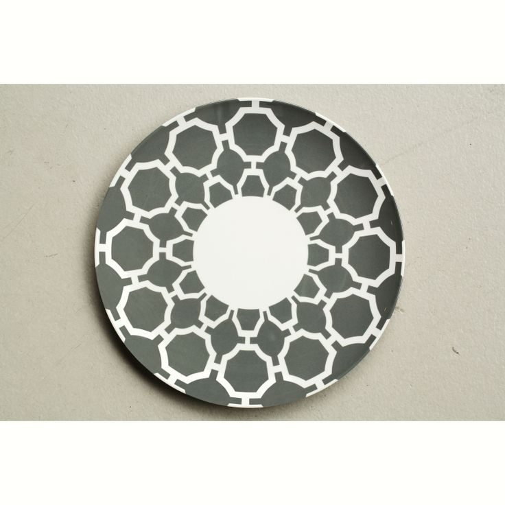Jab Honeycomb Grey Round Coupe Plate from Domayne Online