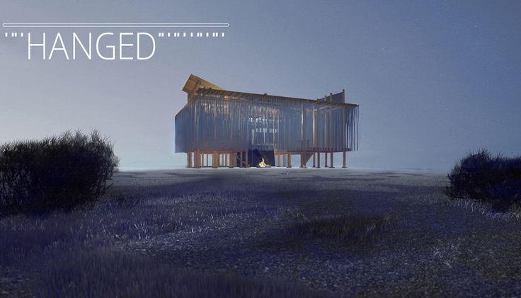 Hanged   House for Enjoying the Harsh Cold / Render Scene by Gumwörk   2015