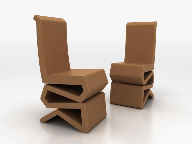 Krzesła z tektury