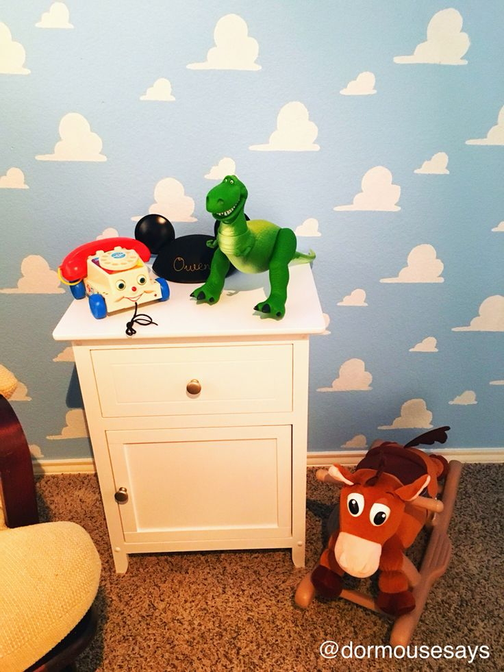 Classic Toys And Rex Do Great Against The Backdrop. #ToyStory #Disney  #Nursery Part 93