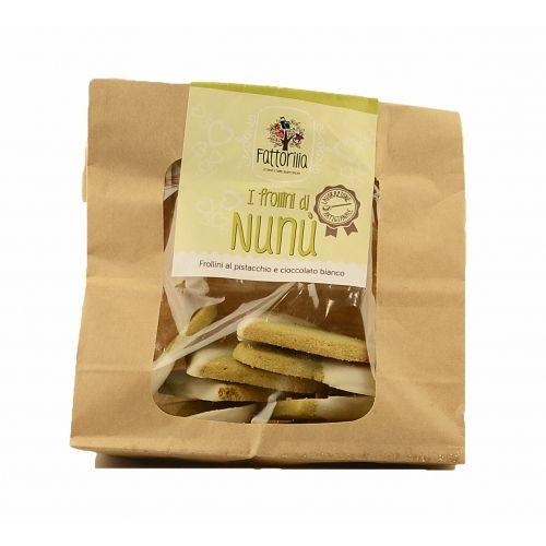 I frollini di Nunù al pistacchio e cioccolato €3,50  http://www.nelsonsicily.com/dettaglio/frollini-di-nunu-pistacchio-e-cioccolato