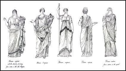 Roman Costume History  Roman Women - Hairstyles and Dress