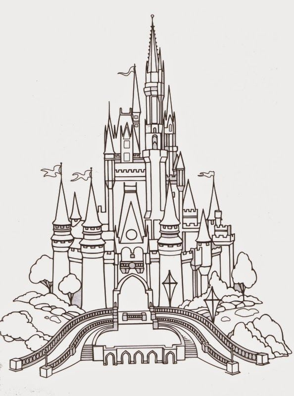 Disney World Castle Coloring Pages Free Castle Coloring Page Disney Activities Disney Castle Drawing