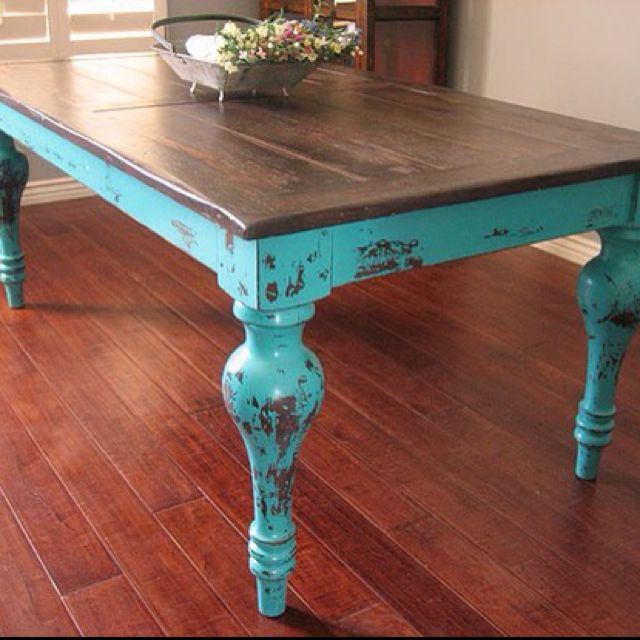 COULD THIS be what you pattern your kitchen island after?! living room end table--kitchen table