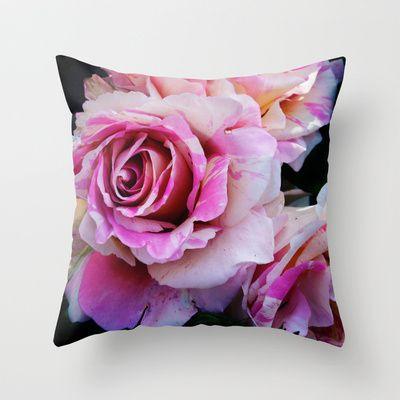 Rose Cushion from Badger Blossom: http://society6.com/badgerblossom