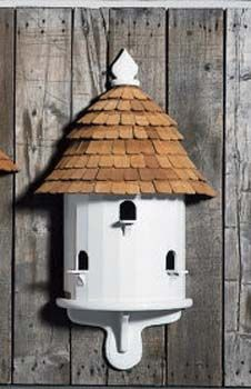Lazy Hill Half Bird House, handmade in Maine, USA, by skilled craftsman. Available to purchase via Yard Envy.
