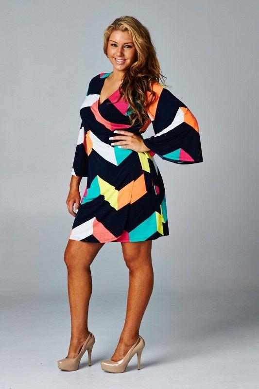 Chevron multicolor wrap dress                                                                                                                                                                                 Más
