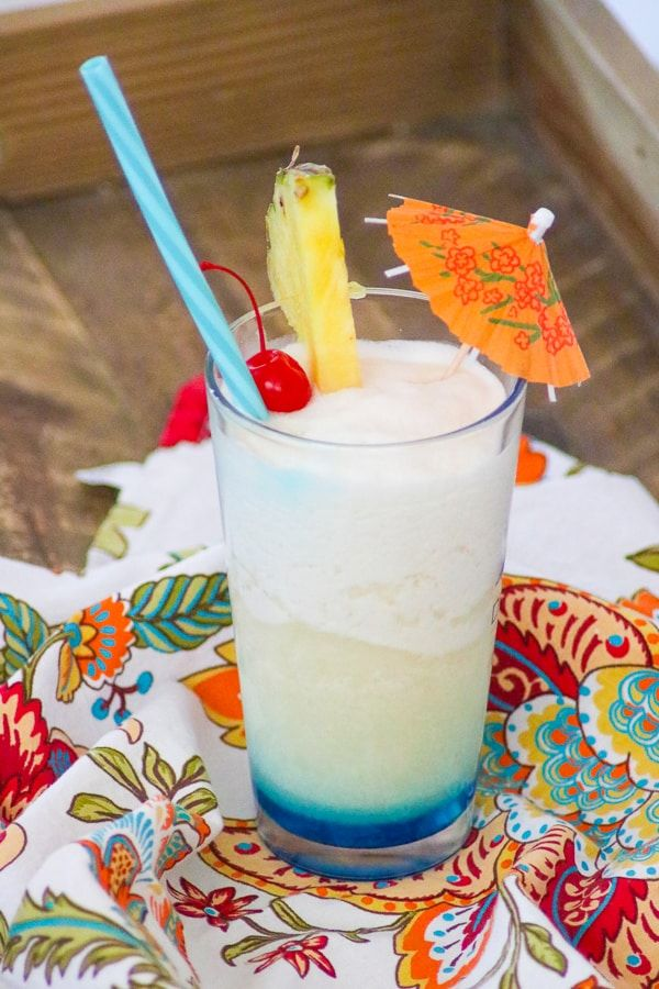 Blue Ocean Drink Recipe Frozen Pina Colada With Blue Curacao On