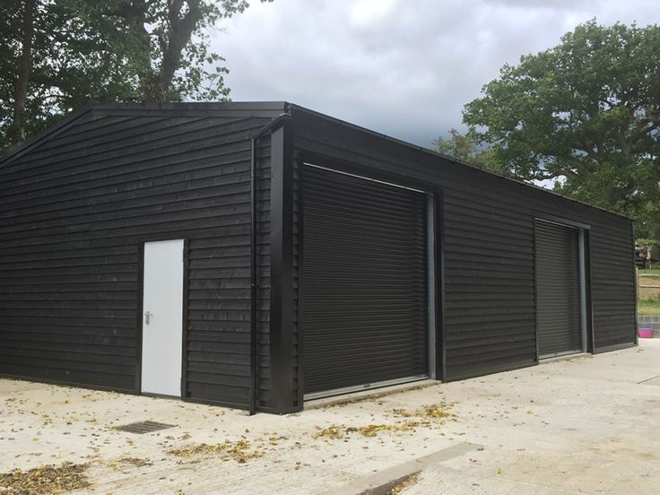 Wooden Cladding Garage Framing ~ One of our steel framed building used as a rural workshop