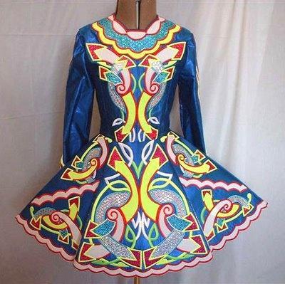 Irish dance dress. very fancy, but cool