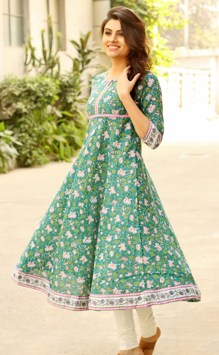 #flare #flair #kurta #anarkali #floral #happy #print #women #fashion #Fabindia