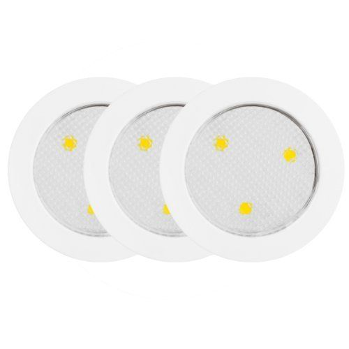 globe electric led under cabinet puck lights white 3pack by globe electric this led puck light is a great and simple solution to light up - Led Puck Lights