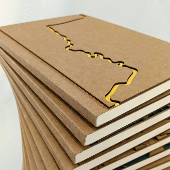 COLORADO RIVER Notebook, Sketchbook, Unique Journal, A5, Personalized Notebook, Custom Notebook, City Maps, Map art, Denver