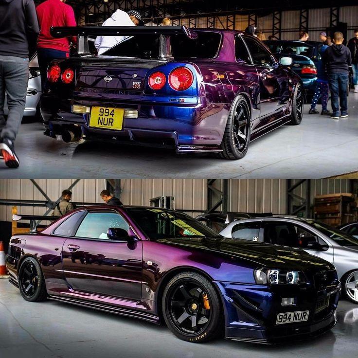 Midnight purple GTR Custom cars, Herenmode