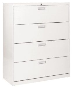 Hon 3 Drawer Lateral File Cabinet Black