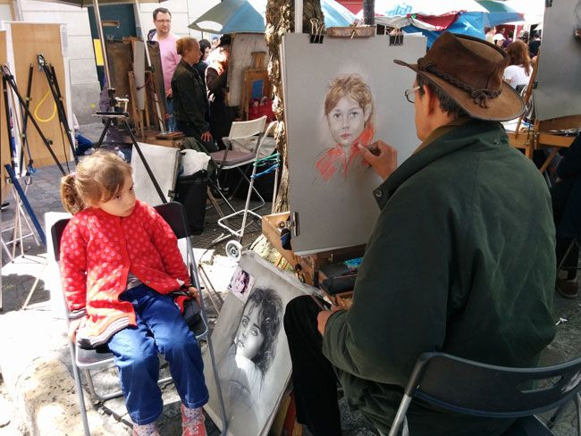 The famous portrait artists in Montmartre.....First time in Paris ???