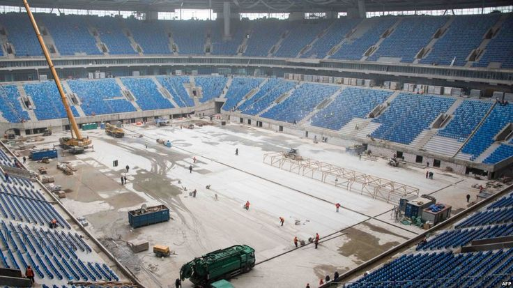 """Russia's Foreign Ministry has denied that North Koreans building a stadium for the 2018 World Cup in St. Petersburg are working under conditions reminiscent of modern slavery, calling these accusations """"fake"""" and """"political blackmail."""" However, several international organizations, including FIFA, the world football body, and the United Nations confirm these violations of labor rights in Russia."""
