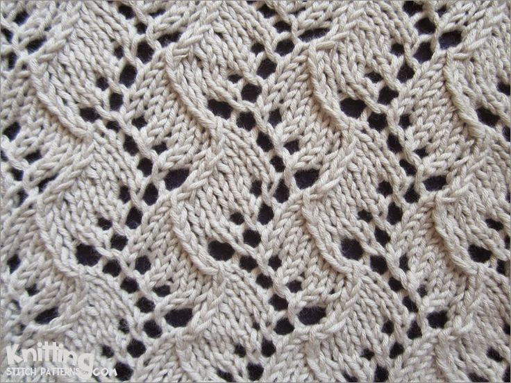 Lace Knitting Stitch | Traveling Vine pattern | knittingstitchpatterns.com