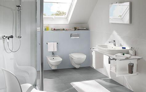 Ванная комната в мансарде со скошенным потолком - O.novo, Frame to Frame