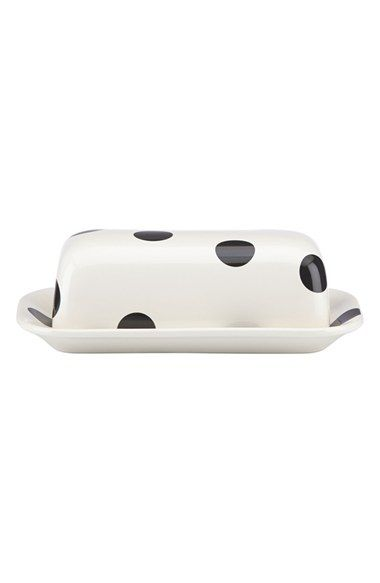 kate spade new york 'all in good taste' 'deco dot' covered butter dish available at #Nordstrom