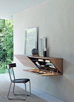 Contemporary secretary desk / wooden / wall-mounted