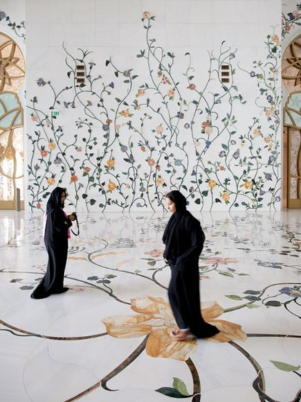 If you look closely, you can see the pieces of the inlaid marble floor of the Sheikh Zayed Mosque in Abu Dhabi, U.A.E. - photo by Dave Yoder, via National Geographic    http://travel.nationalgeographic.com/travel/abu-dhabi/sheikh-zayed-mosque-photos/#/sheikh-zayed-mosque-floral_36864_600x450.jpg