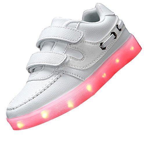 Oferta: 23.99€. Comprar Ofertas de SAGUARO 7 colores para niños muchachas de los muchachos de carga USB Zapatos de luz LED arriba del deporte luminosos destella barato. ¡Mira las ofertas!
