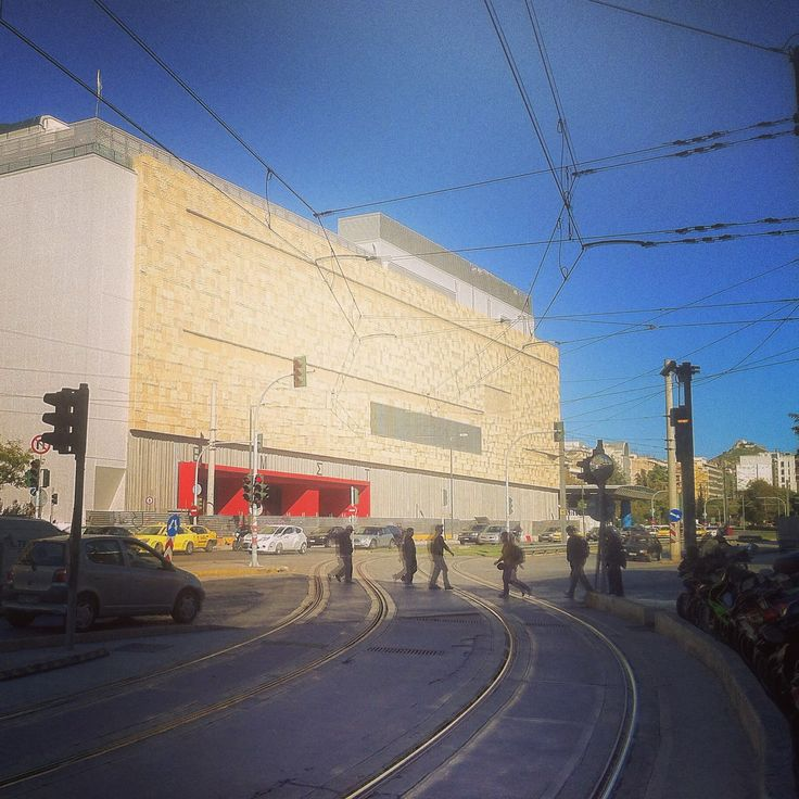 The recently renovated National Museum of Modern Art. Walking Athens app, Route 13 - Koukaki (Download for FREE) #travel #guide #iPhone #emst #tram