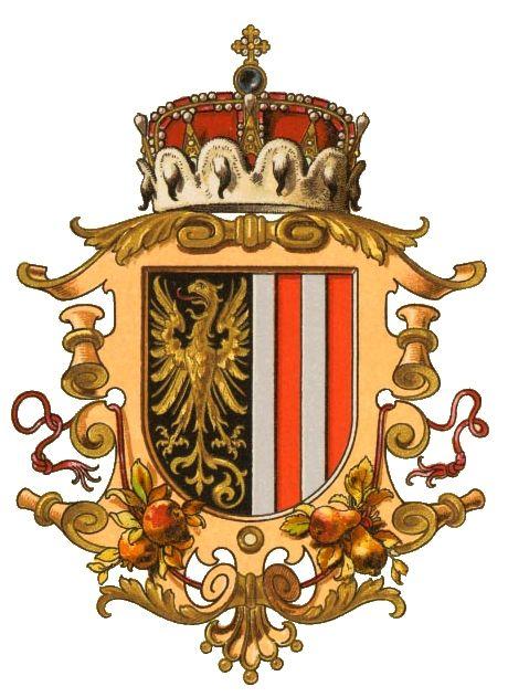 Wappen der Kronländer - Austria-Forum : Wissenssammlung Symbole   Erzherzogtum ober der Enns