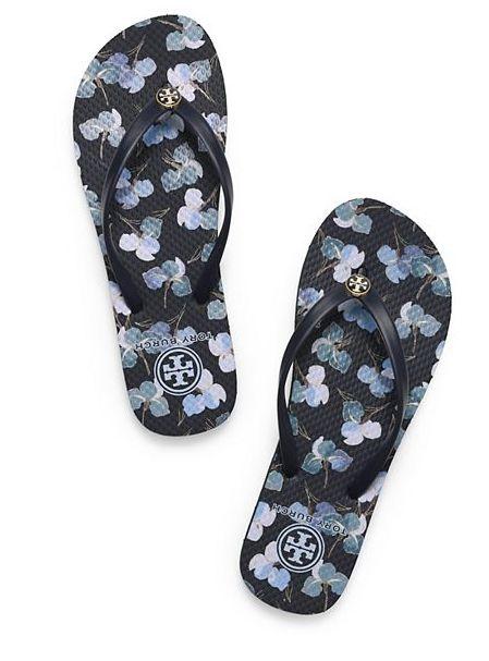 what to wear: tory burch flip flops