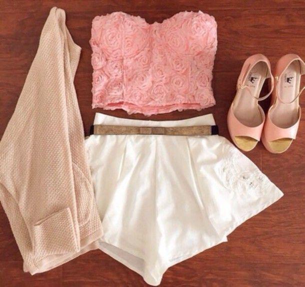 ROSE PINK STRAPLESS TOP