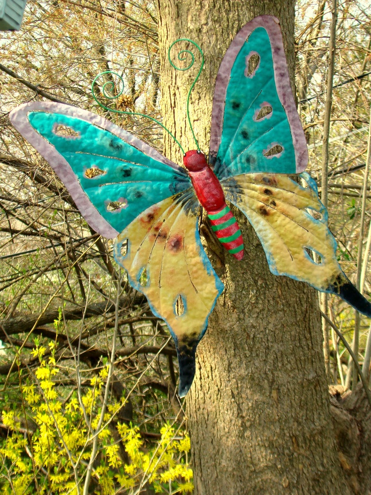 Large butterfly on my Catawba tree