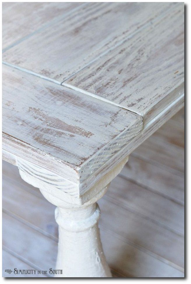 Distressed coffee table painted with MMS milk paint in Grain Sack and distressed with a wet rag. Description from pinterest.com. I searched for this on bing.com/images