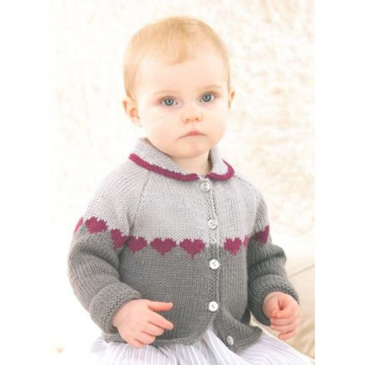 Babies Cardigan knitted in Sublime Baby Cashmere Merino Silk Dk
