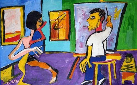 El pintor y la modelo, Gonzalo Centelles