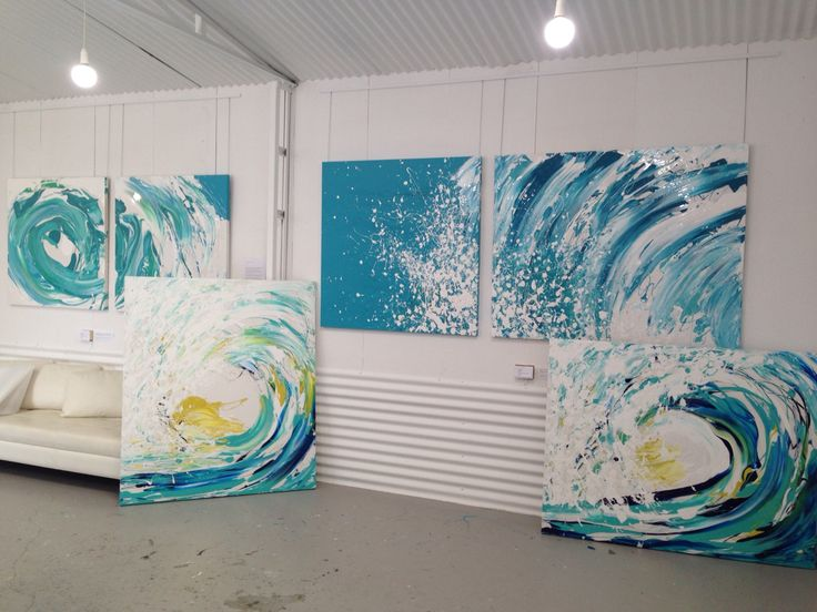 Paintings at the studio ready to go to my exhibition at Manyung Gallery Sorrento in November.